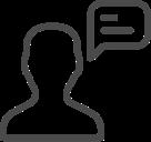 Icon dunkelgrau Beratung Arbeitsmedizin
